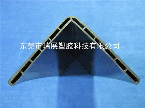 黑色冷顶塑胶异型材